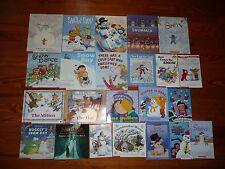 Lot of 23 Snow SNOWMAN Winter CHILDRENS PICTURE BOOKS Jan Brett+ Mitten