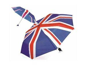 MINI UNION JACK UMBRELLA UK FLAG LIGHT WEIGHT AUTO BRITISH FLAG UNISEX UK