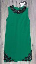 DSQUARED2 EMBELLISHED SHIFT DRESS>BRAND NEW>GENUINE>£1400+>GREEN BLACK>SMALL>10