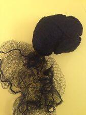 BLACK Hair Nets, Bun Nets 5 Pack Ballet Calisthenics, Gymnastics Hairnet