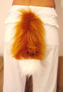Animal Fox Fancy Dress Tail  Adult or Child Unisex Carnival Costume Party
