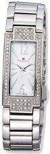 Ladies Charles Hubert Crystal Bezel White Dial 21x46mm Watch