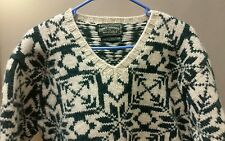 VINTAGE RALPH LAUREN POLO COUNTRY HAND KNIT UGLY CHRISTMAS SWEATER! SZ M