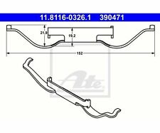 2 St. ATE 11.8116-0326.1 Feder, Bremssattel   Peugeot 308 II 308 SW II Seat VW