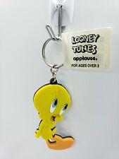 TWEETY BIRD KEYCHAIN '97 vtg Warner Brothers LOONEY TUNES Rubber Applause