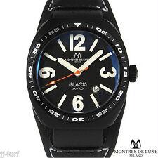 MONTRES DE LUXE MILANO Avio Black Aluminum Date Watch, 43mm x 40mm, Italy
