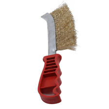 2 In 1  Barbecue Grill Picnic Cleaner Brush Scraper Steel Wire Brush Tool WO