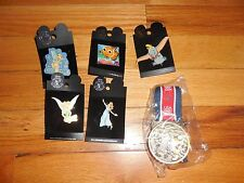 NEW Disney Pin Lot Tinkerbell Nemo Dumbo + 2004 USA Bronze Mickey Mouse Medal