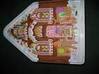 Cookie Cracker and Pretzel Tin Beautiful and Rare Ginger bread House