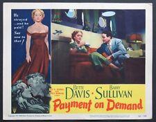 PAYMENT ON DEMAND BETTE DAVIS LOBBY CARD 3
