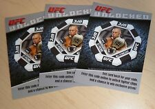 Georges St-Pierre 2011 Topps Title Shot Unlocked UFC Card 100 Code Insert GSP 87