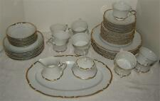 Seyei Grosvenor White with Thick Gold Trim Lot of 36 Pieces, Dinner,Cup,Fruit