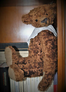 🐻 Early Antique American Teddy Bear Long Arms Long Snout Humpback 1910/20's