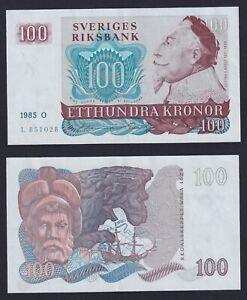 Svezia 100 kronor 1985  SUP/AU  A-10