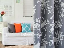 Moroccan Bird:Nordic Style Blockout Curtain (COOL GREY)  140(W) x 233(L) cm