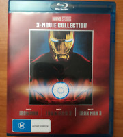 IRON MAN 1-3 Blu-ray Set The Complete Marvel Trilogy 1 2 3 Movie Collection 123