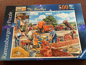 Ravensburger Jigsaw Puzzle 500 Pieces - Happy Days At Work - The Builder