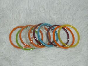 Indian Plain Glass Bangles  Bollywood Traditional Shiny Bracelets 4pc Size Small