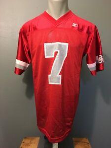 Vtg Starter Ohio State Buckeyes Football #7 Jersey Mens S Uniform Shirt Red Mesh