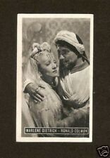 Marlene Dietrich Ronald Colman Kwatta Movie Star Card