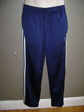NWT Adidas Men Pant Track Jogging Size M Medium Blue White Stripes