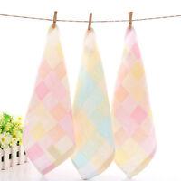 Cotton Baby Bath Wipe Face Towel Feeding Bib Small Square Washcloths 25*25cm PWG