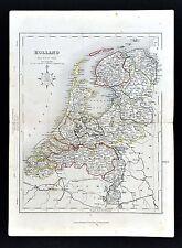 c. 1849 Archer Map - Holland - Netherlands Amsterdam Rotterdam Utrecht Zeeland