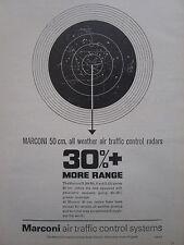4/1964 PUB MARCONI ALL WEATHER AIR TRAFFIC CONTROL RADAR ORIGINAL AD