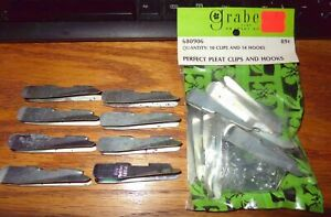 "NIP GRABER PERFECT PLEAT CLIPS & HOOKS 8 EXTRA CLIPS 2 1/2"" DRAPERY SEWING TOOLS"
