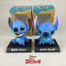 "Disney Stitch Bobblehead PVC Decorations Action Figures Toys With Box 10cm/4"""