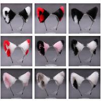 Women Girl Cat Ears Head Rim Hair Hoop Faux Fur Hairband Headwear Party Cosplay