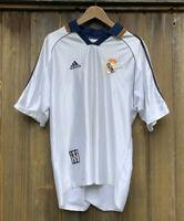 Vintage Adidas Real Madrid 90s HomeWhite Jersey Mens Large 1998 1997