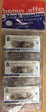 Lot of (3) C-60 Blank 60 Minute Audio Cassette Tape Fine Quality Sealed Nippon
