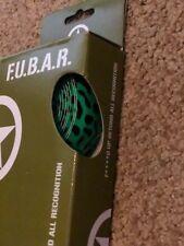 NIB F.U.B.A.R.  PVC Cell Foam Road Handlebar Tape Green Black Design W Bar plugs