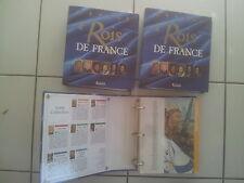 lot 3 classeurs ROIS DE FRANCE aux éditions Atlas ( + de 570 fiches)