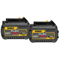 DEWALT 20V/60V MAX FLEXVOLT 6 Ah Li-Ion Battery (2-Pc) DCB606-2 New