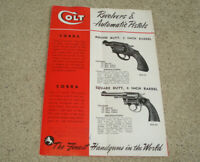 Vintage 1950s Colt Firearms Gun Pistol Revolver Catalog Brochure POLICE