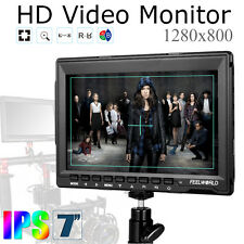 "Feelworld FW759 1280x800 7"" IPS Peaking Focus Video Monitor F BMPCC A7S FS7 GH4"