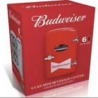 Budweiser Portable 6-Can Mini Refrigerator