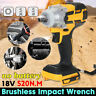 520Nm Cordless Brushless 18V Impact Wrench 1/2'' Square Drive For Makita Battery