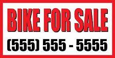 4'x8' BIKE FOR SALE CUSTOM NUMBER Sign Vinyl Banner bicycle motorcycle