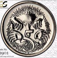 2015 Australian Decimal 5 Cent PCGS Grade Uncirculated MS65 Slabbed