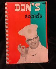 DON'S SECRETS ORIGINAL 1958 LANDRY SEAFOOD RESTAURANT LOUISIANA CAJUN COOKBOOK