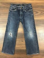 7 For All Mankind Boys Jeans Size 5 Distressed Relaxed Adjustable Waist
