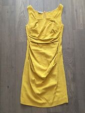 MOSCHINO CHEAP & CHIC YELLOW COTTON FITTED DRESS SZ UK 12
