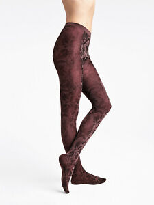 WOLFORD STUDIO Jungle 60 DEN Everyday Tights Size XS Two Tone Pattern Matte Look
