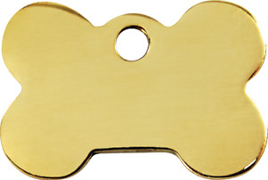 "Red Dingo Brass ""Bone"" Pet Cat & Dog ID Tag- Free Engraving"