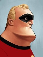 Mr. Incredible Poster - Mondo - Mike Mitchell - Limited Edition - Incredibles