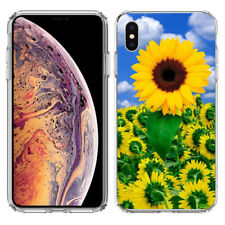 For Apple iPhone XR Sunflower Field Garden Hard Cover Case Phone Protector