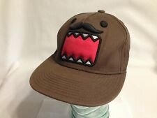 DOMO Mustache Kun Trucker cap SnapBack Hat Cap Brown 100% Cotton Japanese